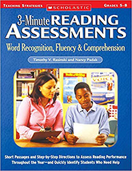 3-Minute Reading Assessments, Grades 5-8 9780439650908