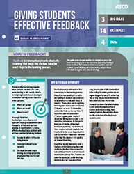 Giving Students Effective Feedback (Quick Reference Guide) ASCD3281