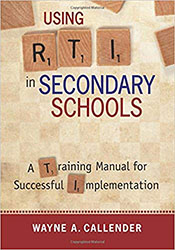 Using RTI in Secondary Schools CP0560