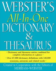 Webster's All-in-One Dictionary & Thesaurus FSP1471